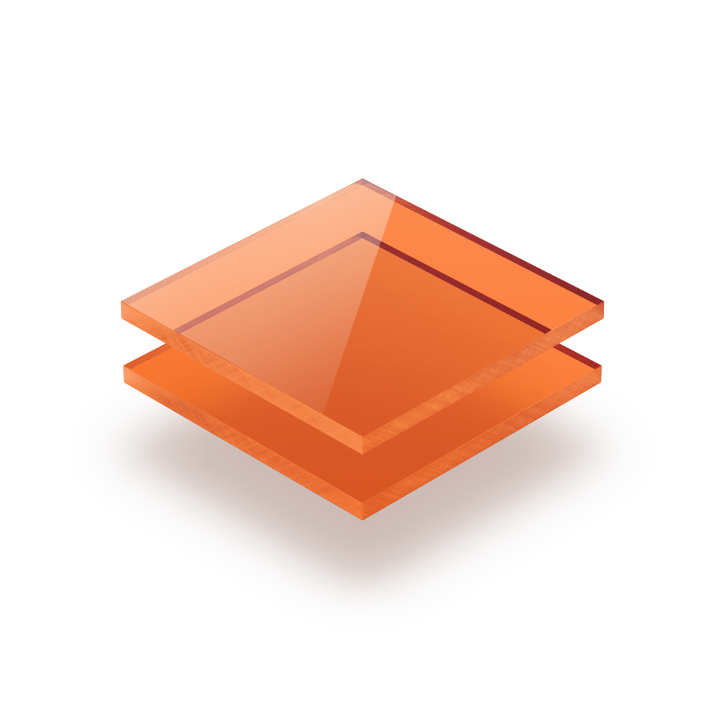 Plexiglas getint oranje
