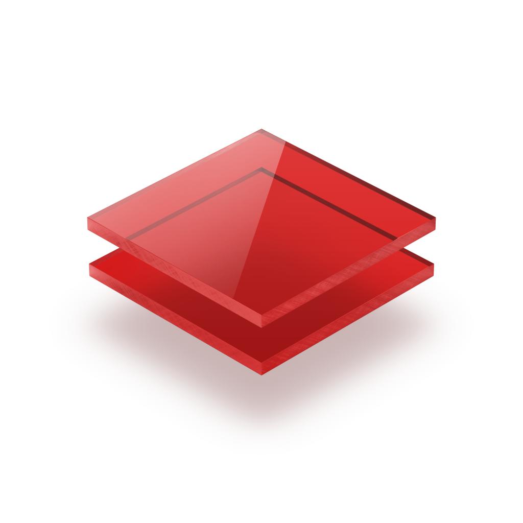 Plexiglas getint rood