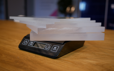 Het gewicht van plexiglas