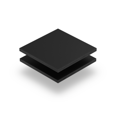 Plexiglas satijn ebony mat