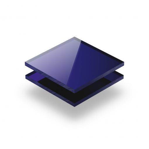 Plexiglas spiegel blauw