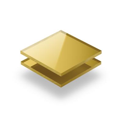 Plexiglas spiegel goud