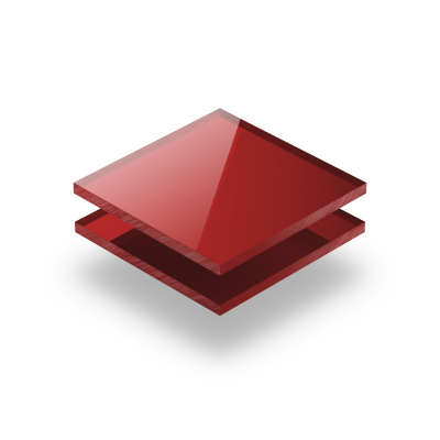 Plexiglas spiegel rood