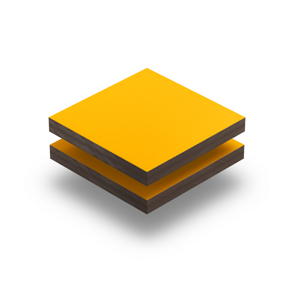 HPL geel structuur RAL 1003