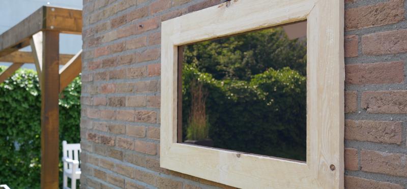 Plexiglas tuinspiegel met frame