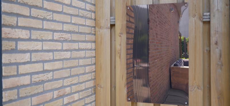 Plexiglas tuinspiegel zonder frame