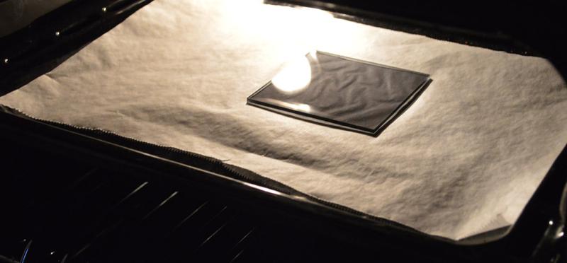 Tafeldecoratie - plexiglas in oven
