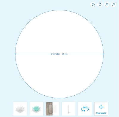 Plexiglas cirkel bestellen plaatconfigurator