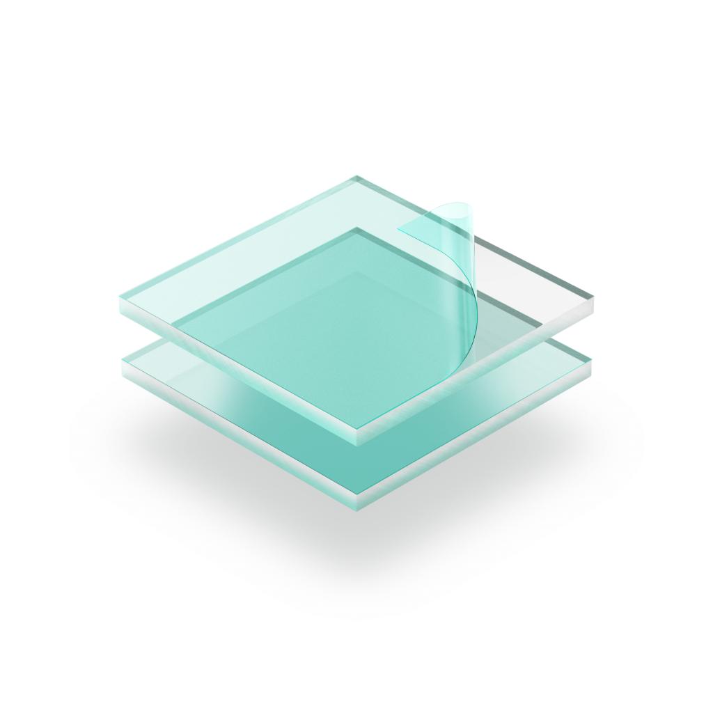 Transparant plexiglas met beschermfolie