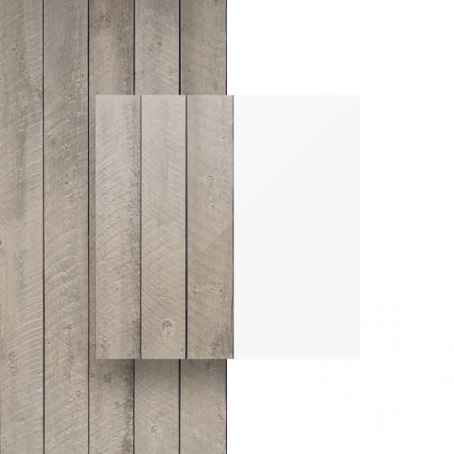 Transparante plexiglas plaat voorkant