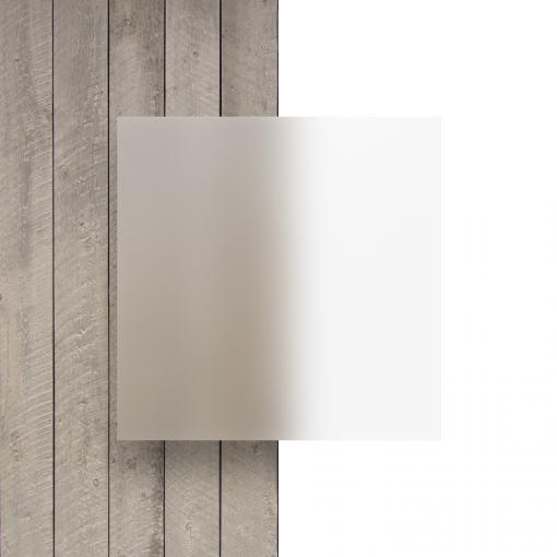 Voorkant frost plexiglas plaat