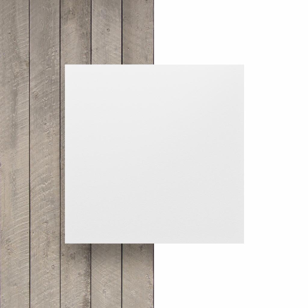 Witte HPL plaat voorkant
