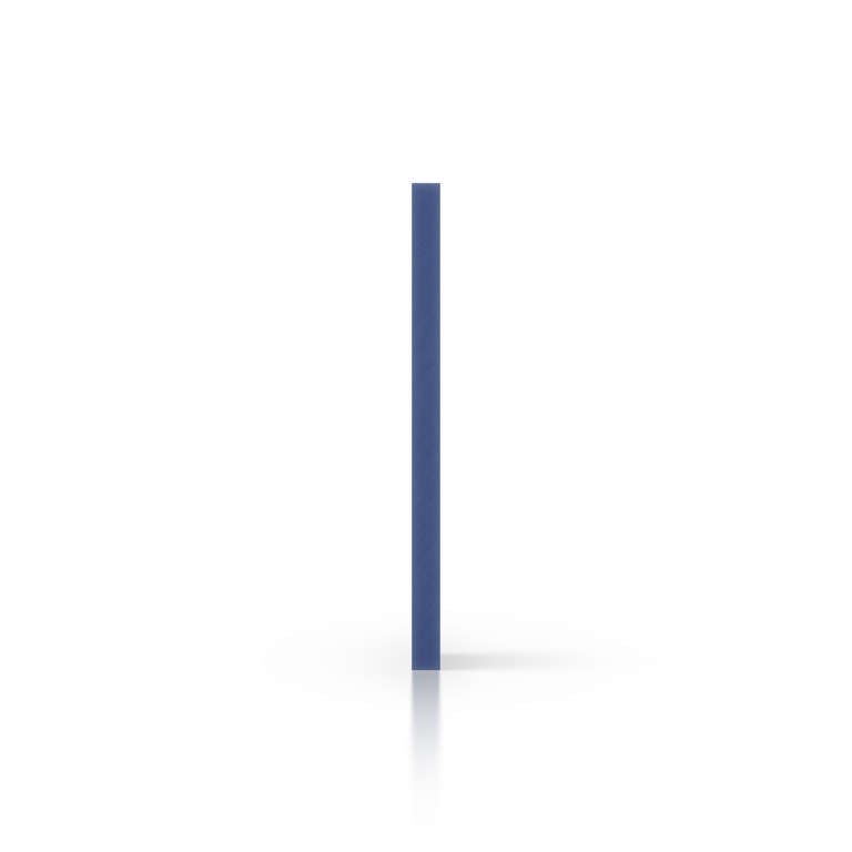 Zijkant geschuimd PVC blauw