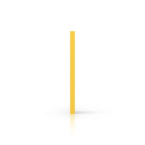 Zijkant geschuimd PVC geel