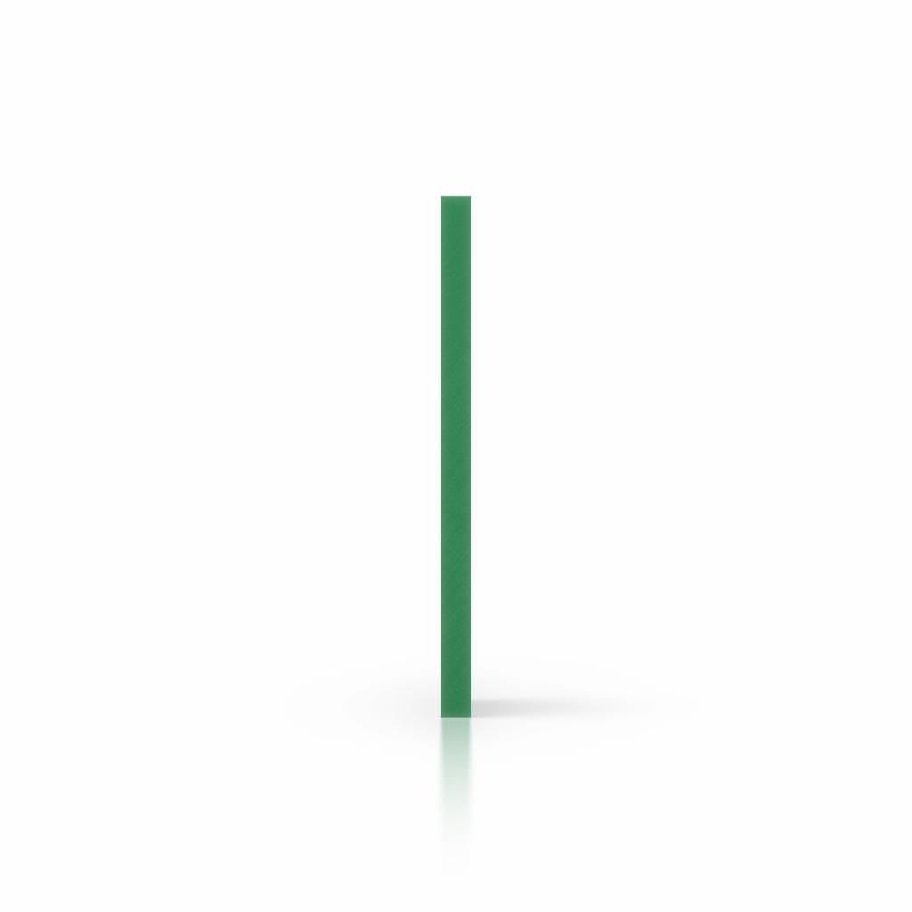 Zijkant geschuimd PVC groen