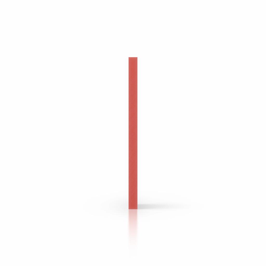 Zijkant geschuimd PVC rood