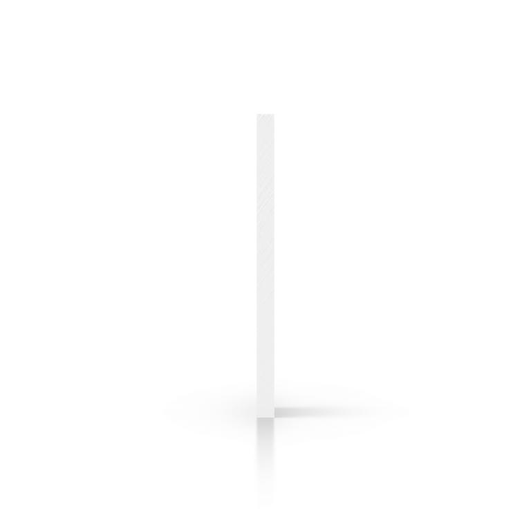 Zijkant hard PVC wit
