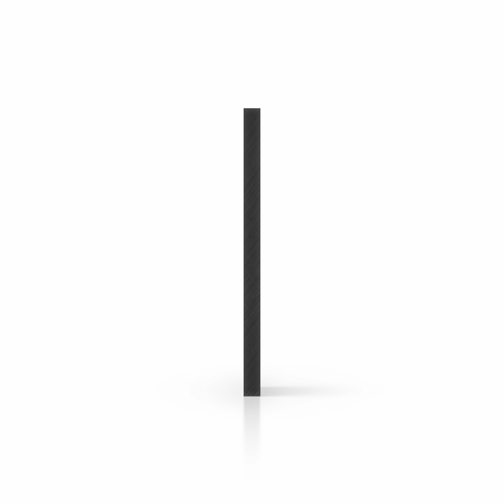 Zijkant hard polyetheen PE zwart