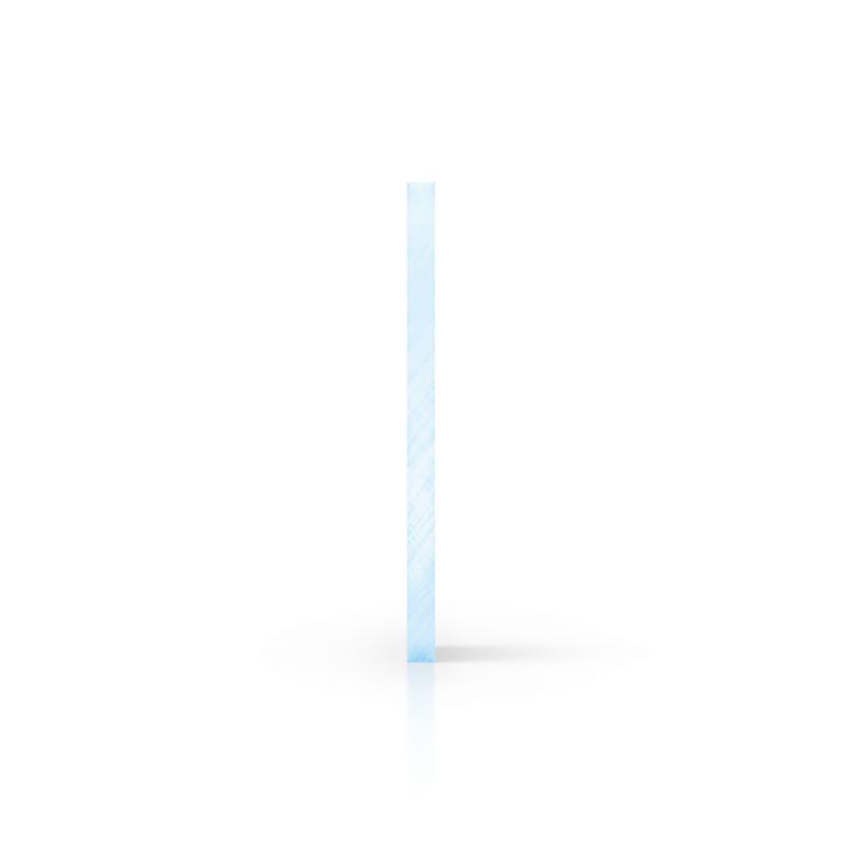 Zijkant plexiglas fluor blauw