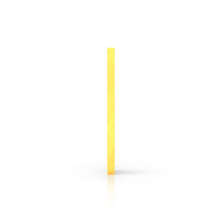 Zijkant plexiglas fluor geel