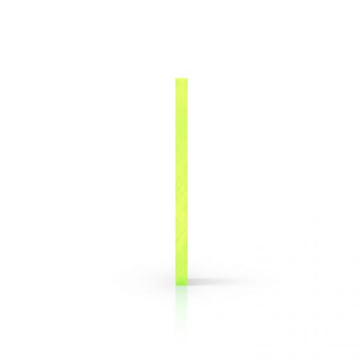 Zijkant plexiglas fluor groen