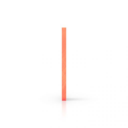 Zijkant plexiglas fluor oranje