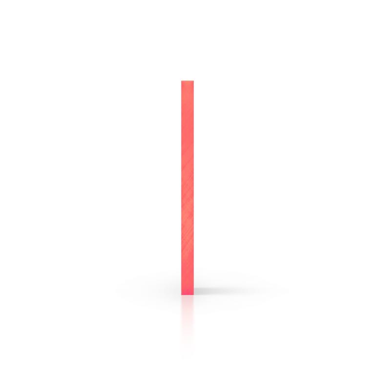 Zijkant plexiglas fluor rood