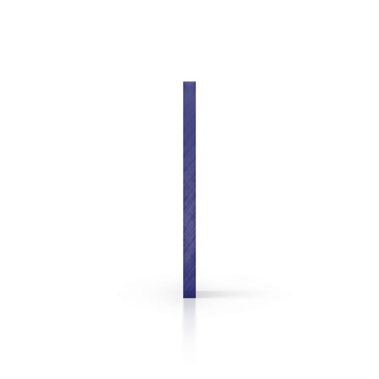 Zijkant plexiglas getint blauw
