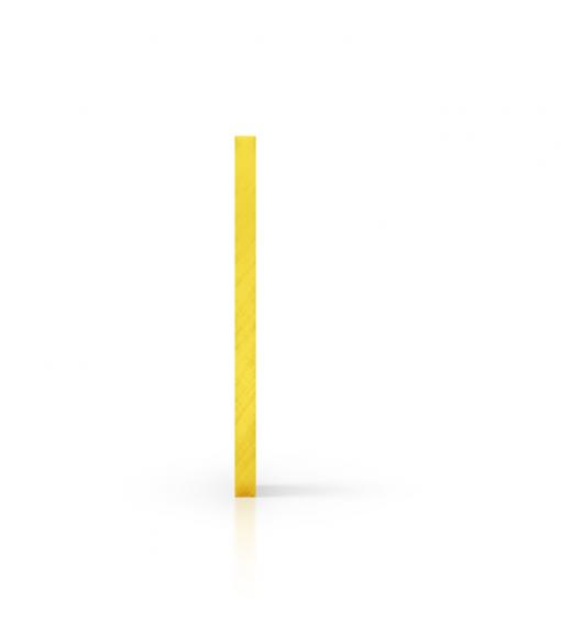 Zijkant plexiglas getint geel