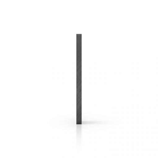 Zijkant plexiglas getint grijs