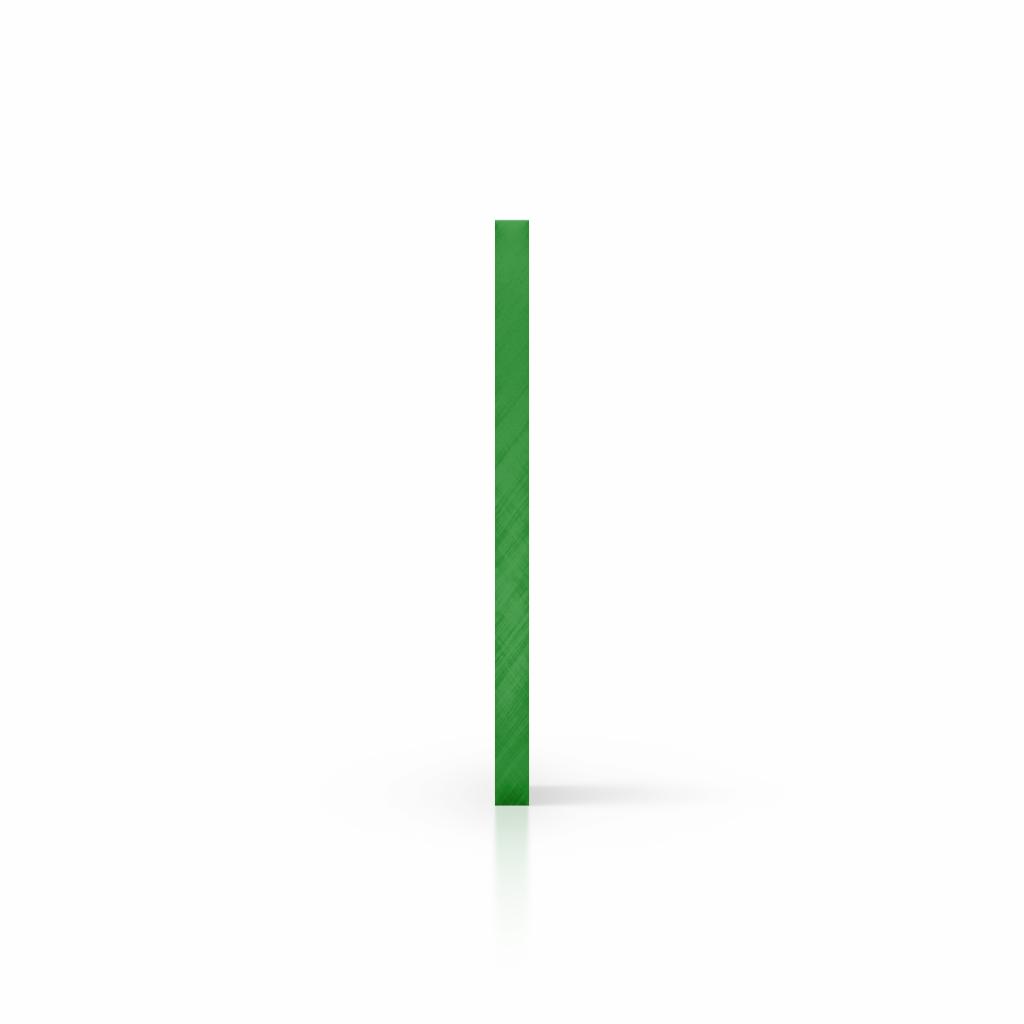 Zijkant plexiglas getint groen