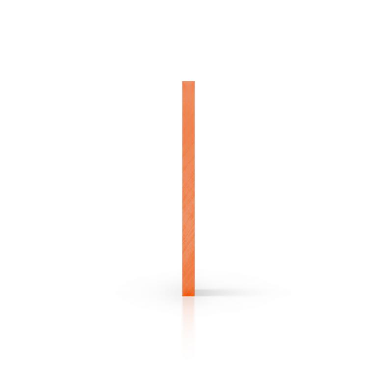 Zijkant plexiglas getint oranje