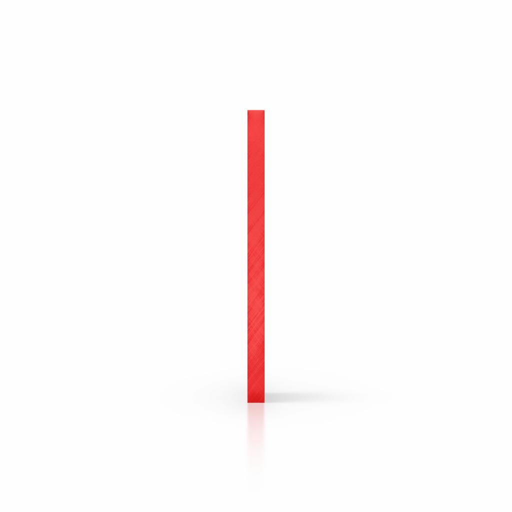 Zijkant plexiglas getint rood