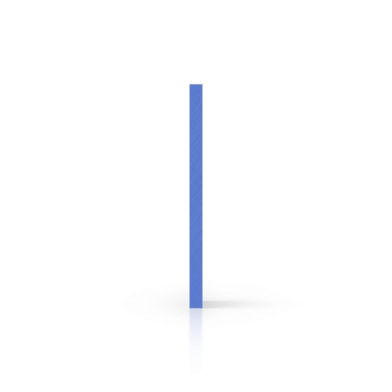 Zijkant plexiglas opaalblauw