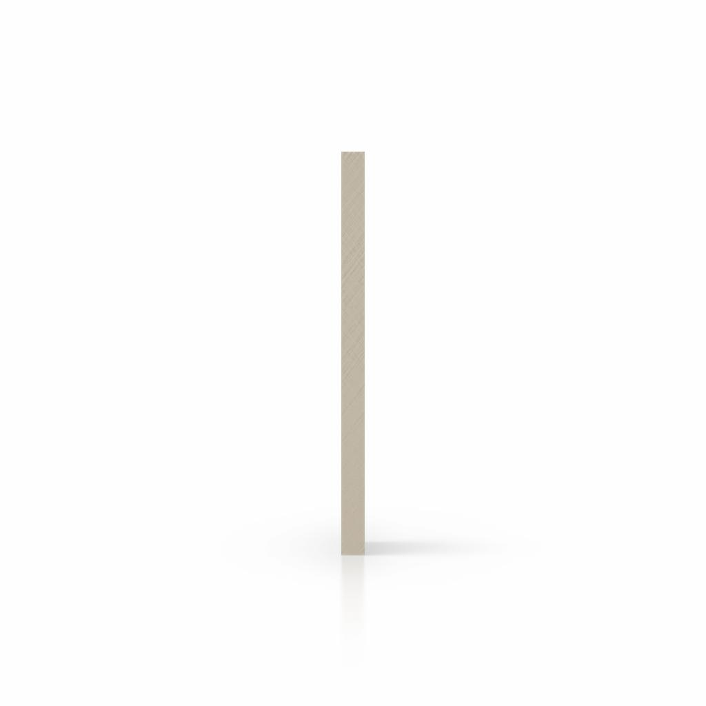Zijkant plexiglas satijn creme mat