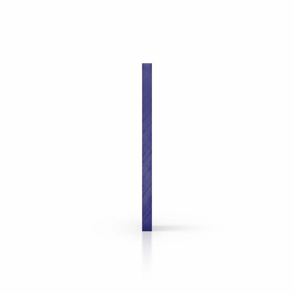 Zijkant plexiglas spiegel blauw