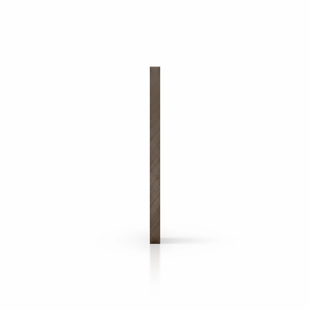 Zijkant plexiglas spiegel brons