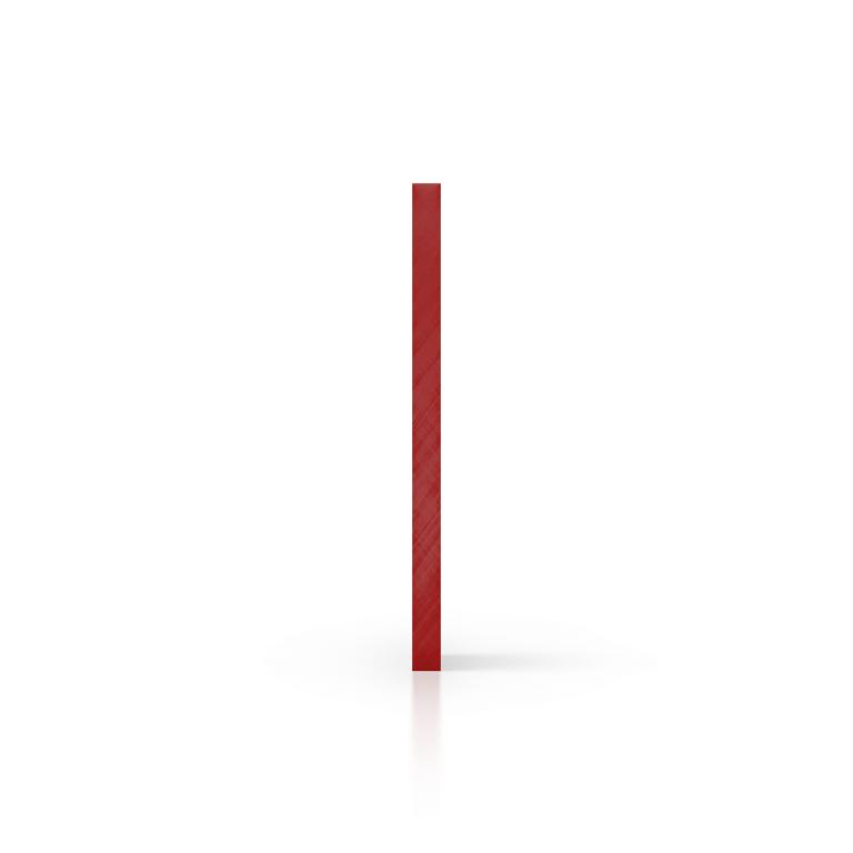 Zijkant plexiglas spiegel rood