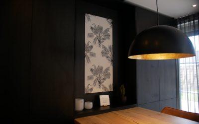 DIY behangpaneel maken zonder lijmen