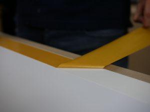 Beschermfolie tape verwijderen