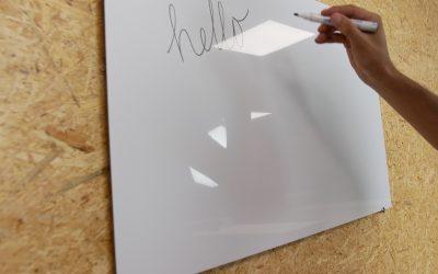 DIY: whiteboard maken van alupanel