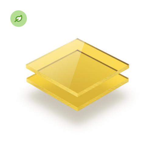 Gerecycled plexiglas Green Cast getint geel