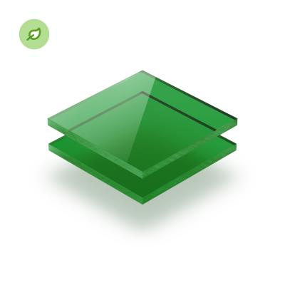 Gerecycled plexiglas Green Cast getint groen