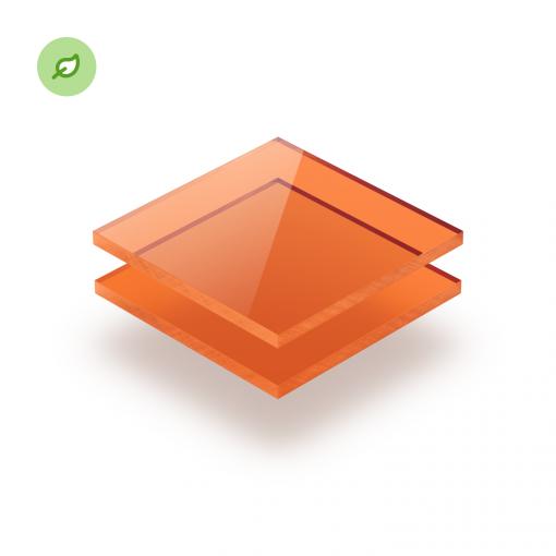 Gerecycled plexiglas Green Cast getint oranje