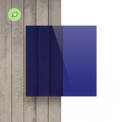Green Cast gerecycled plexiglas getint blauw voorkant