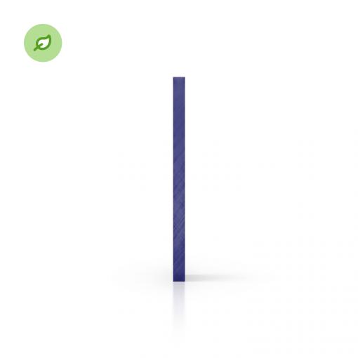 Green Cast gerecycled plexiglas getint blauw zijkant