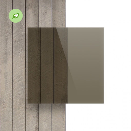 Green Cast gerecycled plexiglas getint bruin voorkant