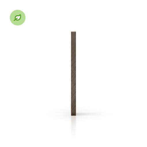 Green Cast gerecycled plexiglas getint bruin zijkant