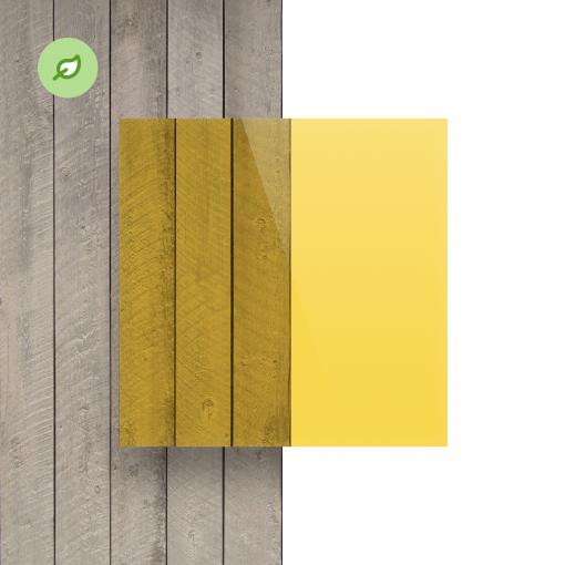 Green Cast gerecycled plexiglas getint geel voorkant