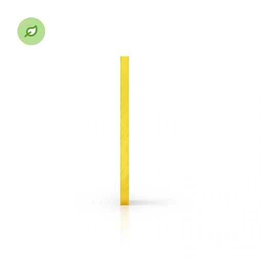 Green Cast gerecycled plexiglas getint geel zijkant
